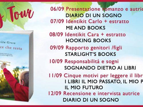 2° Tappa Blogtour – La luce che resta di Evita Greco – Identikit Carlo + Estratti