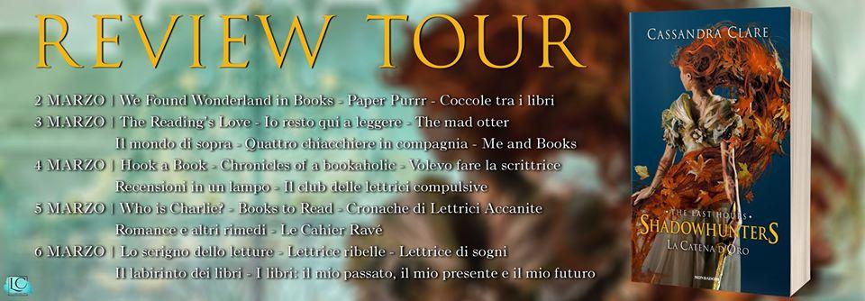 Review Tour - La catena d'oro di Cassandra Clare