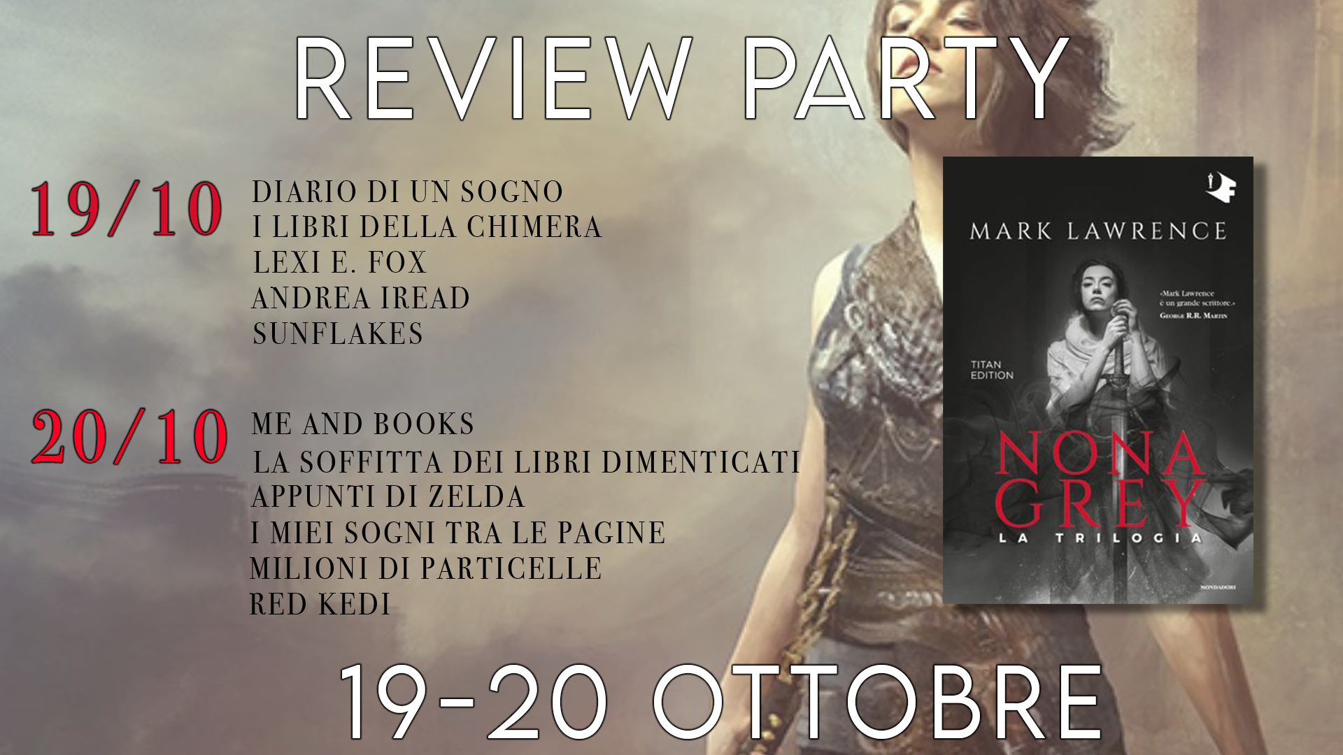 Review Party - Nona Grey di Mark Lawrence |Volume 1|