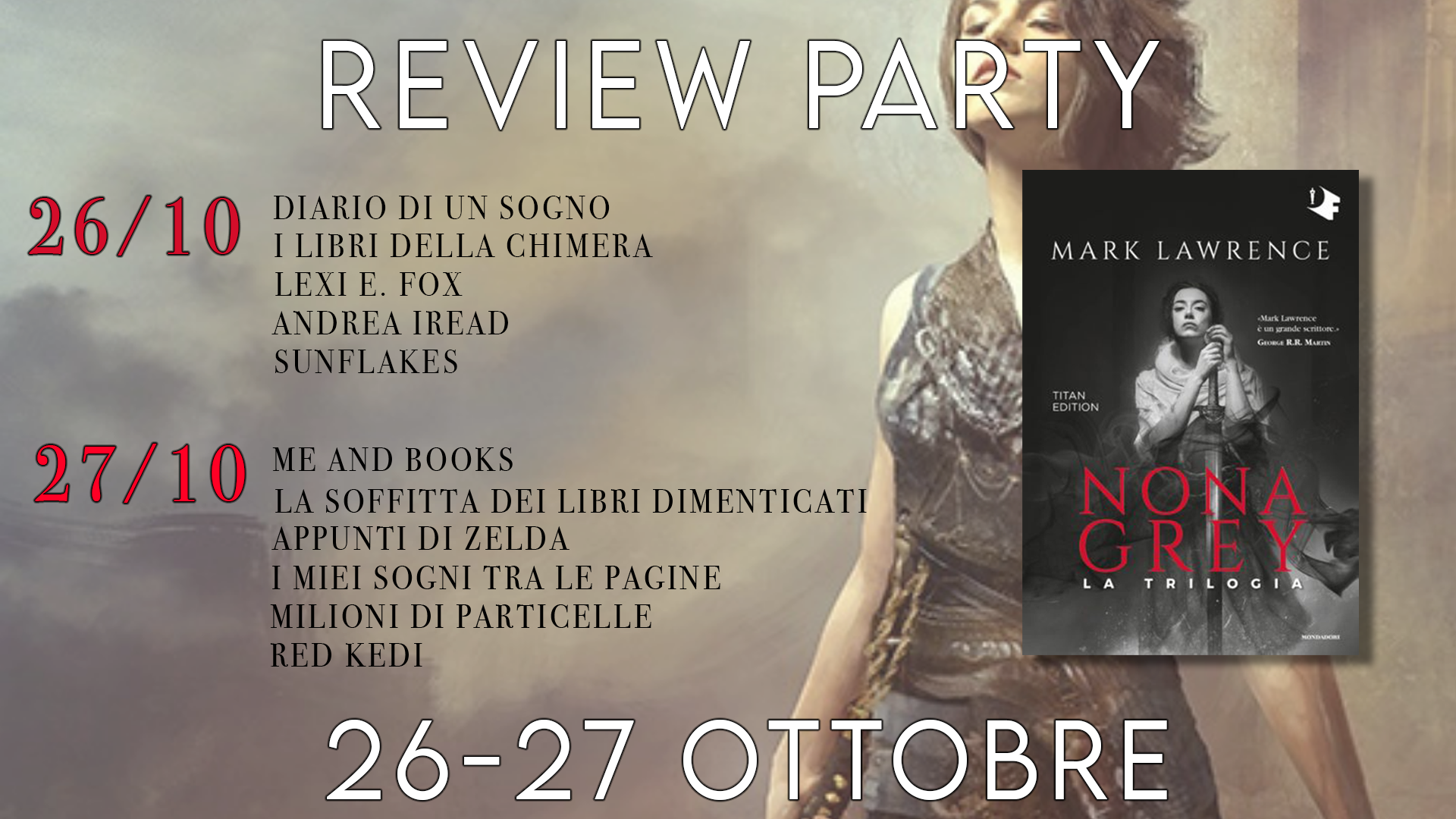 Review Party - Nona Grey 3 di Mark Lawrence